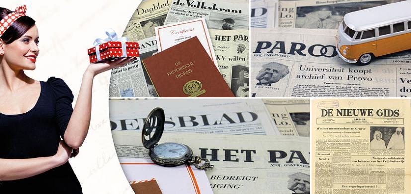 Oude kranten als cadeau
