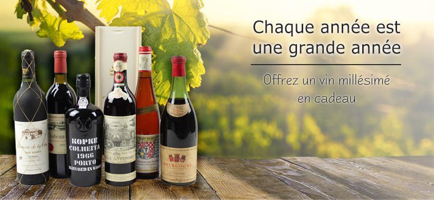 Sélection de vins de l'année de votre choix