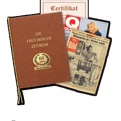 Historische Zeitungen als Geschenk