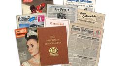Zeitung vom Tag der Geburt