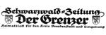 Der Grenzer - Schwarzwaldzeitung 10.03.1959