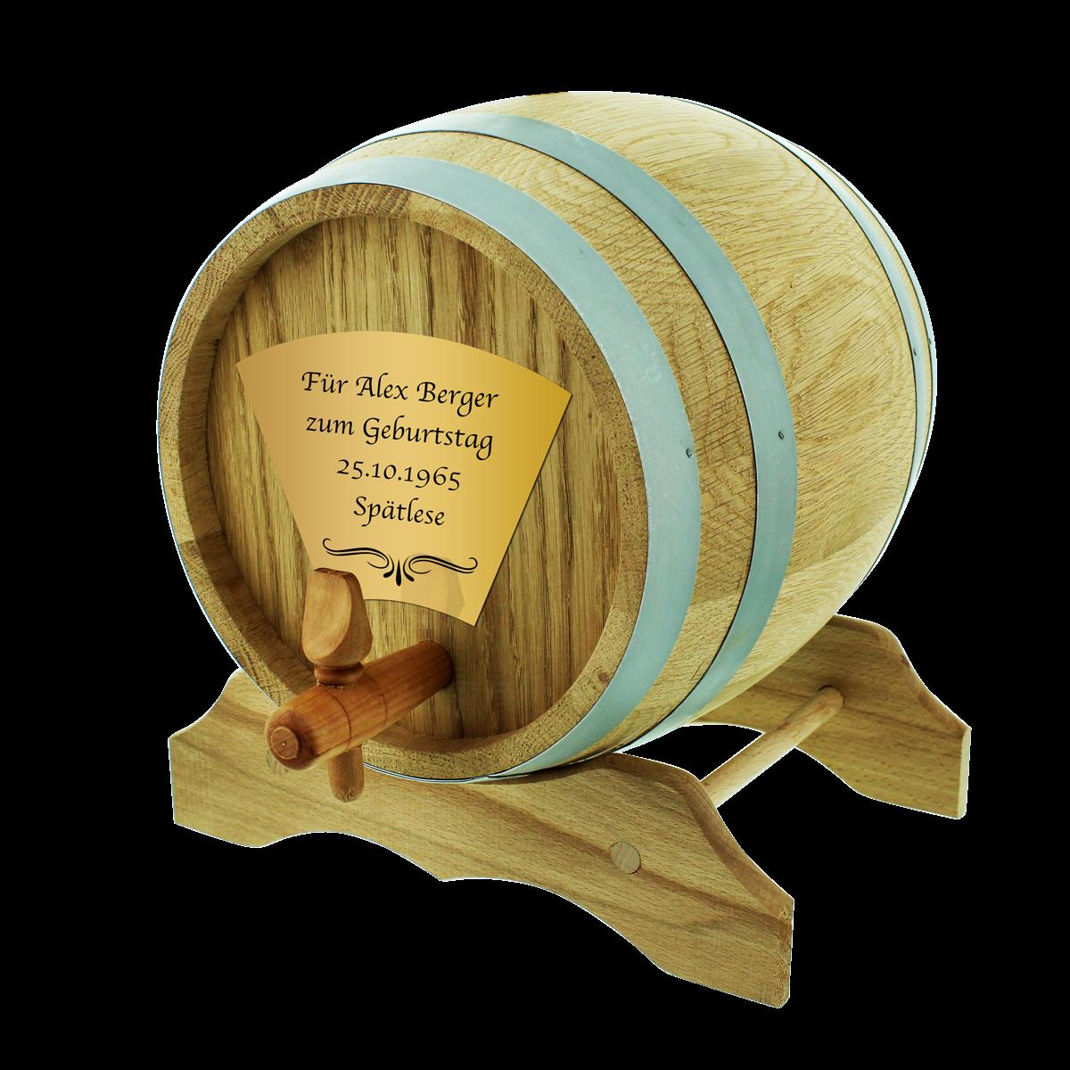 Das 10 Liter Eichen-Holzfass mit Personalisierung