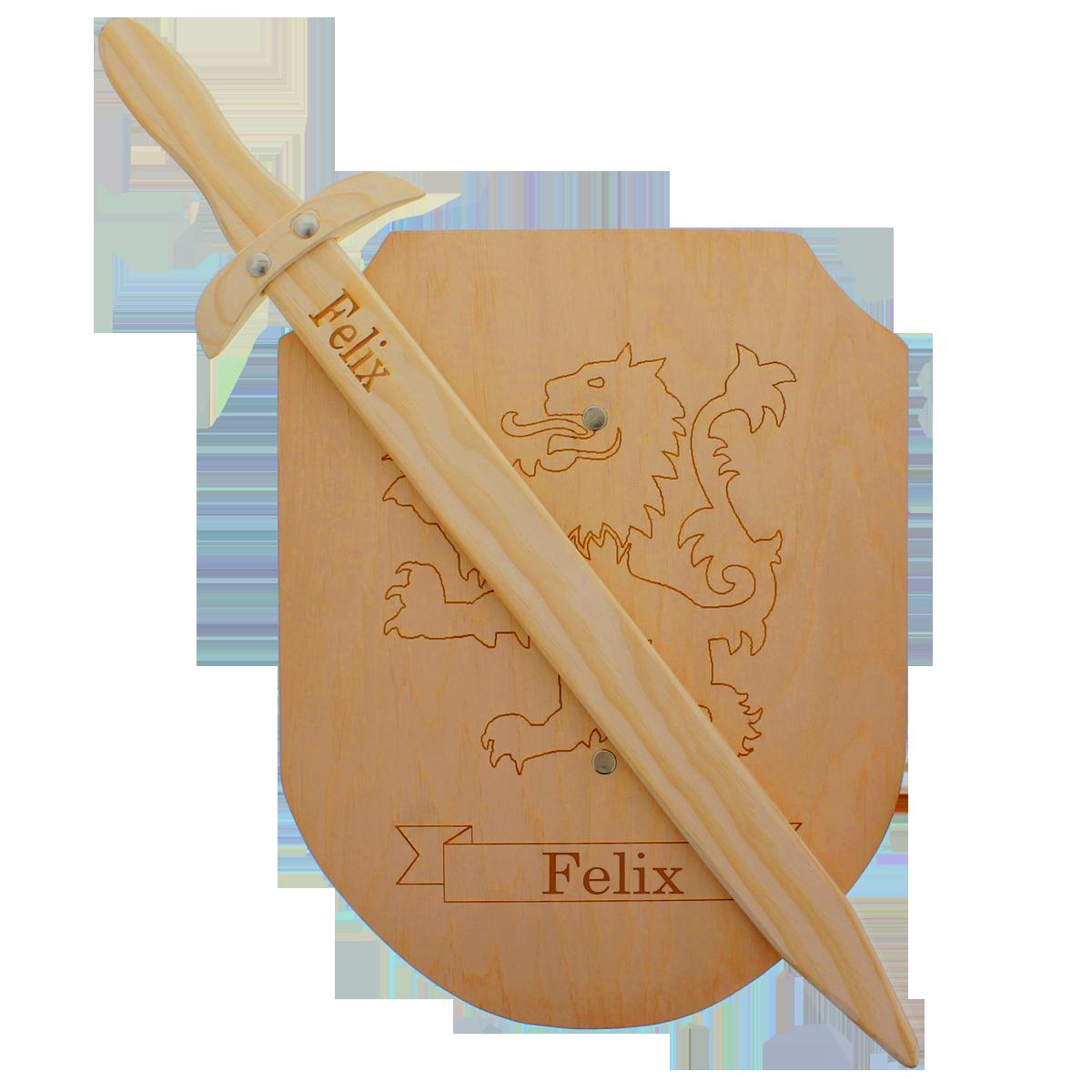 épée et bouclier en bois, enfants, cadeau pour enfants, personnalisation