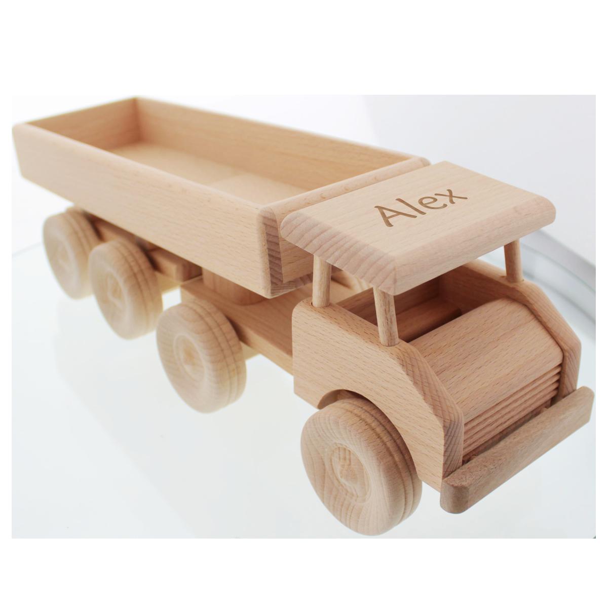 véhicules en bois, Camion en bois avec gravure, cadeaux, anniversaire