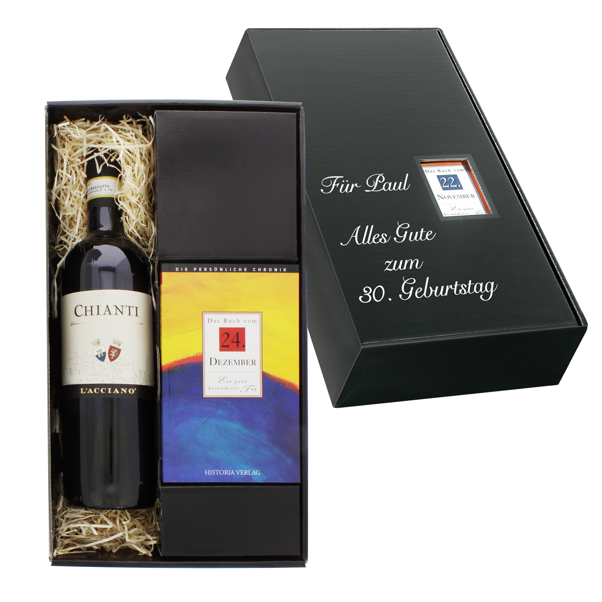 Italien-Set: Tageschronik vom 15. M?rz & Chianti-Wein