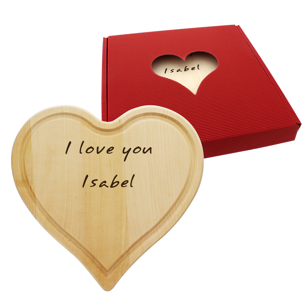 Planche é découper Coeur gravé, cadeaux, gravure personnalisée,