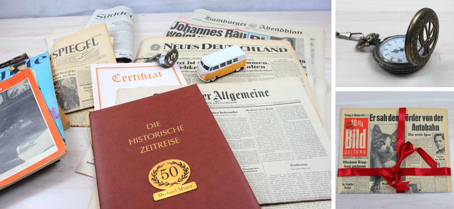 Zeitung vom Geburtstag verschenken